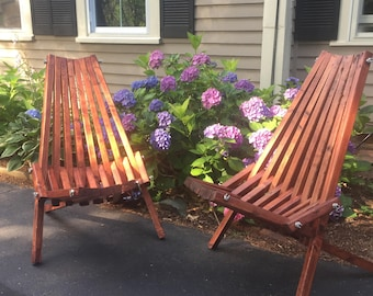 Patio chair, stick chair, foldable outdoor chair, outdoor bucket chair