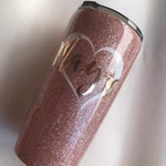 Personalized  rose gold tumbler