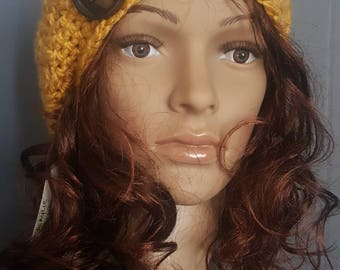 Vintage yellow slouchy hat