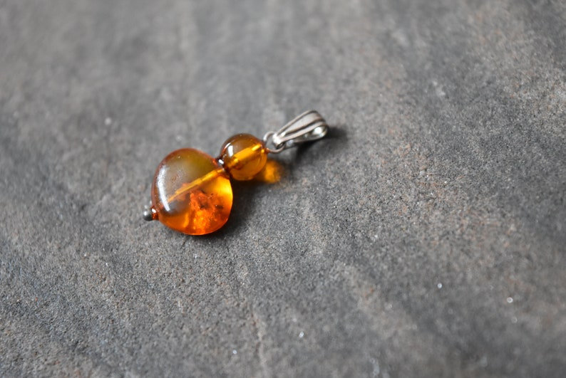 Unique Healing Amber Pendant with sterling silver Jewelry that is Handmade in Canada