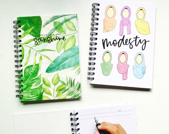 A5 Modesty/Leaves Notebook
