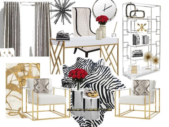 Design Moodboard Virtual Interior Design E Design Home Etsy