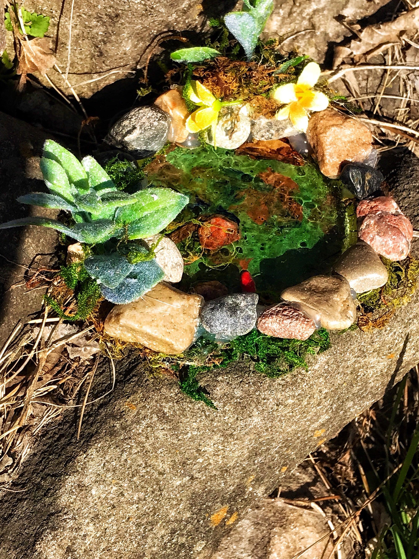 Fee Garten Teich Fairy Teich Stein Teich Weihnachten Geschenk | Etsy