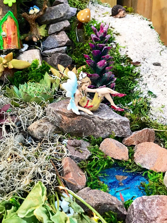 Fairy Garden Kit Pond fairy pond miniatures for fairy garden   Etsy