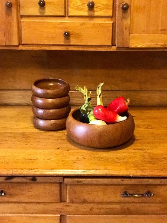 image 0 - Wooden Salad Bowl Set
