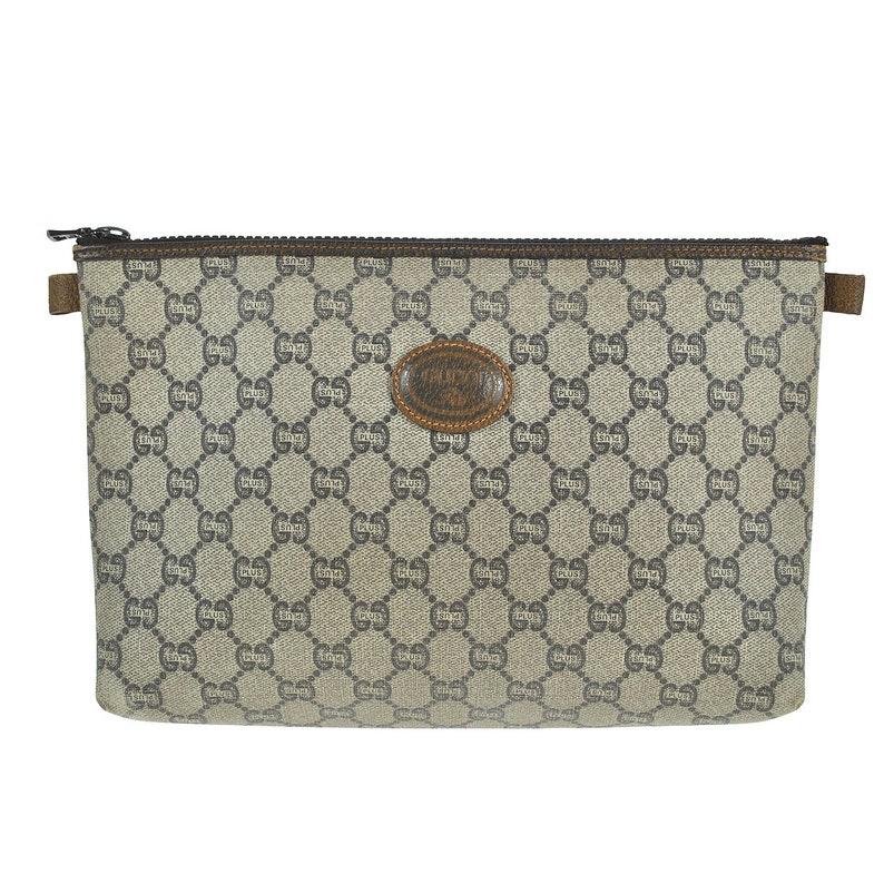 9e45d409d46 A27 GUCCI PLUS Authentic Vintage OLD Clutch bag Pouch Hand Bag