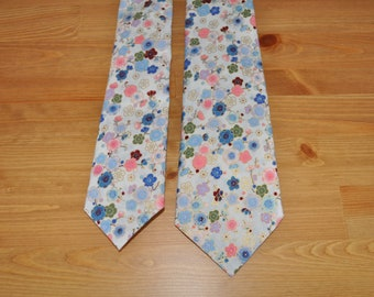 Frozen Spring | Men's Handmade Necktie | Japanese Fabric