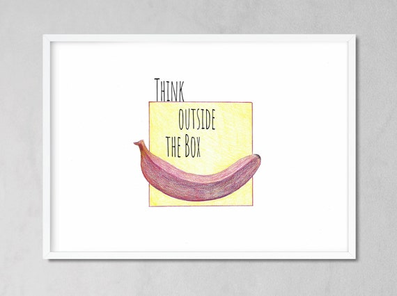 Office Decor Ideas For Her Think Outside The Box Art Etsy