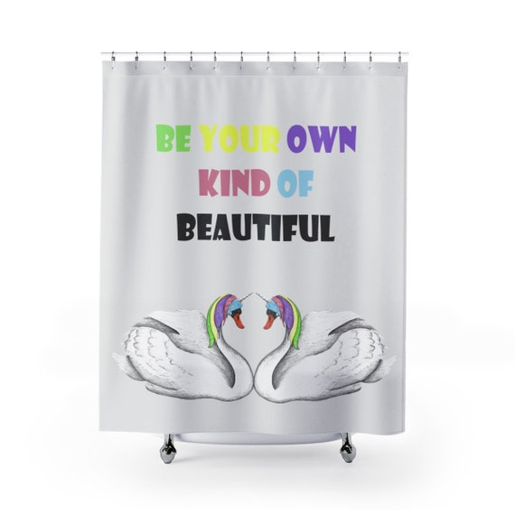 Gray Unicorn Swan Shower Curtains Inspirational Housewarming