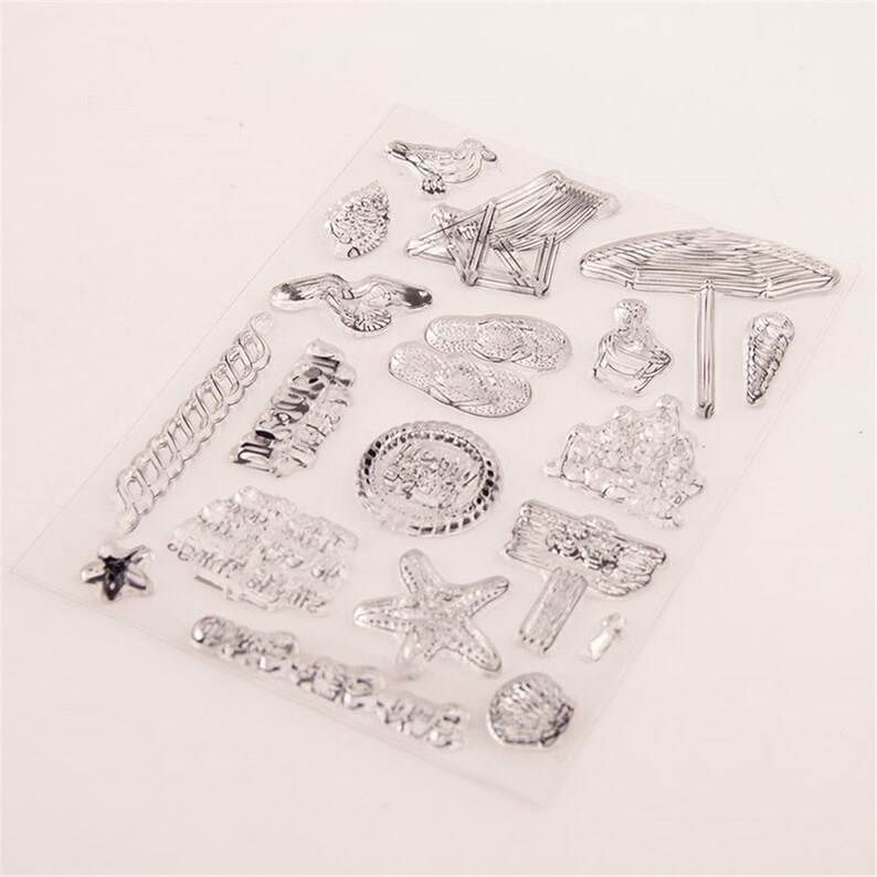 New Leisure Vacation Transparent Clear Silicone StampSeal For DIY ScrapbookingPhoto Album Decorative Cards Making Paper Crafts