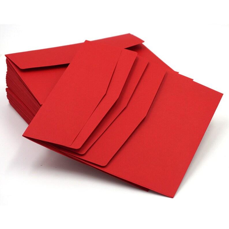10pcs Red 195 135mm DIY Paper Business Envelope Gift Card Envelopes for Wedding Birthday Party Invitation Decoration Envelope