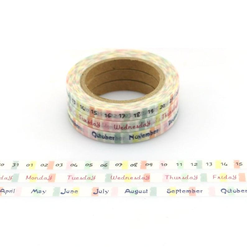 3pcs TheTwilight Saga Date Time Plan Washi Tape Adhesive Tape DIY Scrapbooking Sticker Label Masking Tape