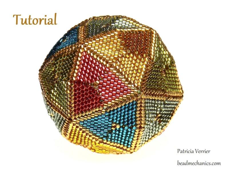 Tutorial for Rhombic Mosaic beaded icosahedron image 0