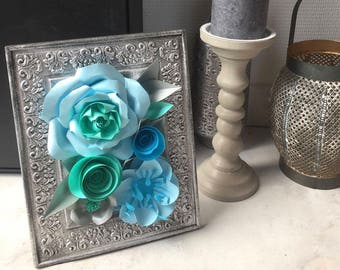 Paper flowers table
