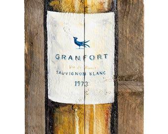 Acrylic Wine Bottle Print