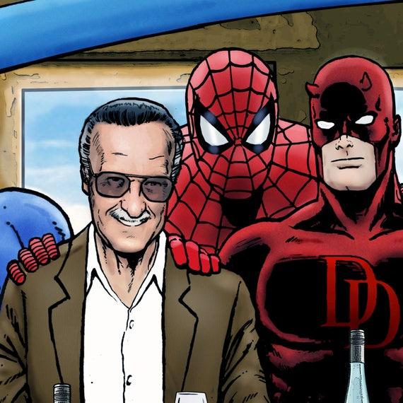 Marvel Comics Stan Lee/'s Super Supper Canvas Framed Wall Art Various sizes
