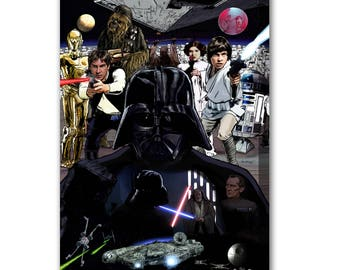 Star Wars - Mounted Canvas