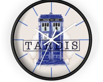 Tardis Wall Clock  Just What Every Whovian Needs For That Timey Wimey Business - Don't Miss Out!