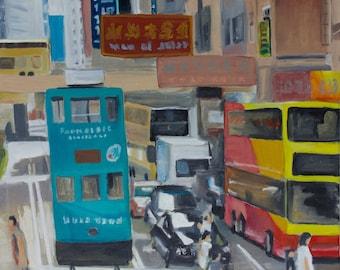 Oil painting-abstract-Hong Kong