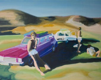 Oil painting-abstract-Roadtrip-series