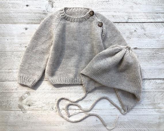 Unisex grey baby pants of alpaca baby Kids leggings rose peach lavender Winter pants with ties Knit wool newborn toddler infant boy girl