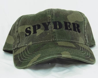 Cap / baseball hat / adult / embroidered Can-Am Spyder (spider) camo