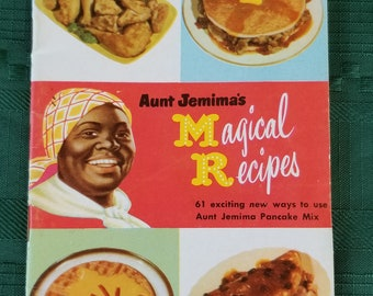 Aunt Jemima's Magical Recipes 1952 Vintage Book. Free shipping!