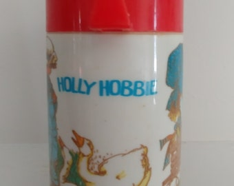Holly Hobbie collectible,Holly Hobbie Aladdin thermos girl gardening thermos 1981 Holly Hobbie thermos girl in bonnet thermos