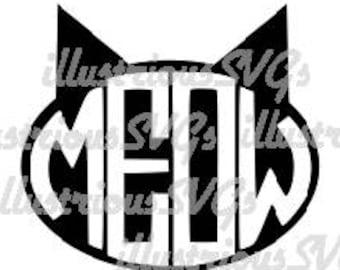 Meow cat SVG image