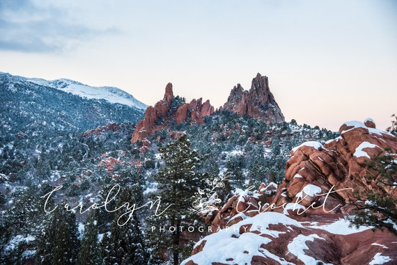 Winter Wonderland Garden Of The Gods Wall Pictures