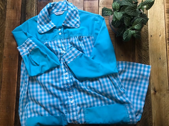 NAVY Plaid-Star Jumper WHITE Blouse Doll Clothes For 18 American Girl Debs