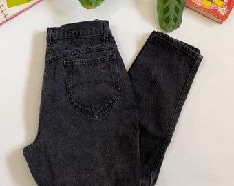 """Vntg CHIC Faded Black Mom Jeans 90s Size 14 - 28"""" Waist"""
