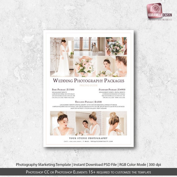 Weddings Pricing Template Photography Packages Wedding Photography Price  Template Pricing Guide Instant Download Price List Template