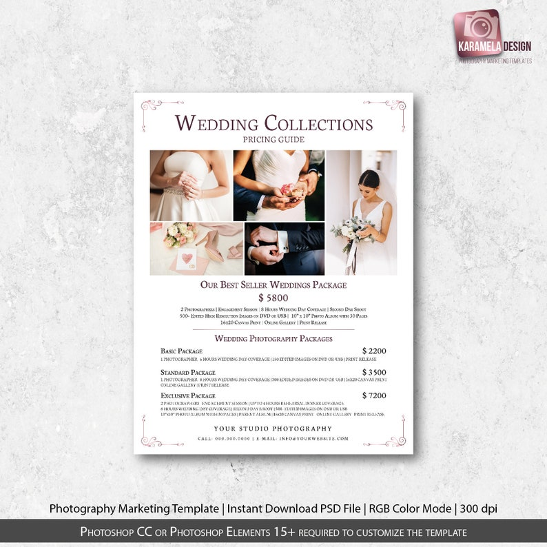 Wedding Photography Packages.Photography Packages Wedding Photography Pricing Guide Price List Template Pricing Template Photography Price Template Instant Download
