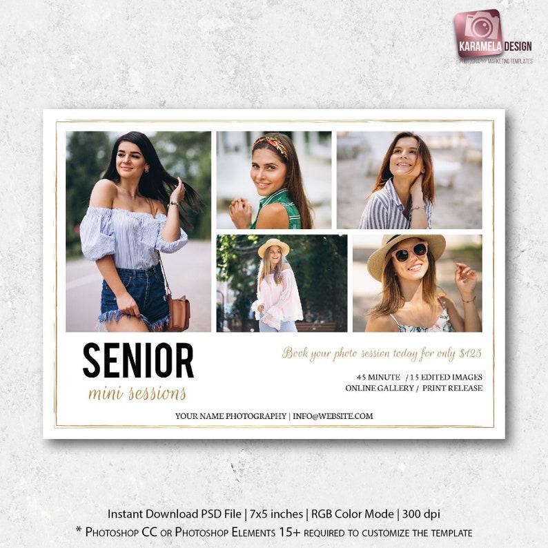 Senior Portrait Mini Session Template Senior Sessions Marketing Board  Senior Minis Marketing Template Photography Template Graduation Minis