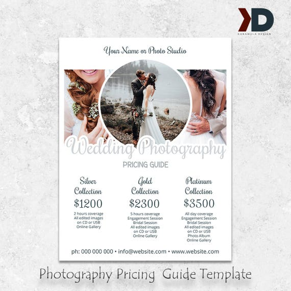 Wedding Photography Package Pricing Wedding Pricing Etsy