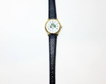 Vintage Irish 3 Leaf Clover Watch