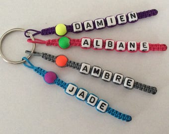 Personalized Keychain 5 strands