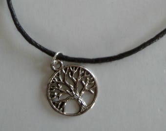 Necklace black tree of life