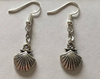 earring type shell silver St. James