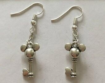 type key Silver Earring