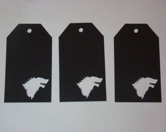 Game of Thrones Stark Gift Tags, Set of 12