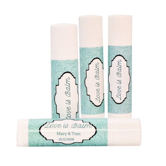 Lip Balm Labels Party Favor Stickers 30 Rustic Aqua Labels Aqua Wedding Labels