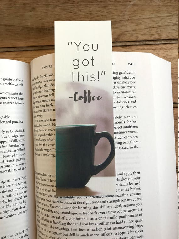 gift for her bookmark you got this coffee lover gift