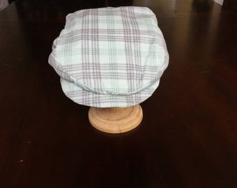 Plaid newsboy cap