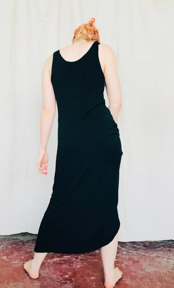 Vintage 90s Black Maxi Dress Size Small/Medium Bla