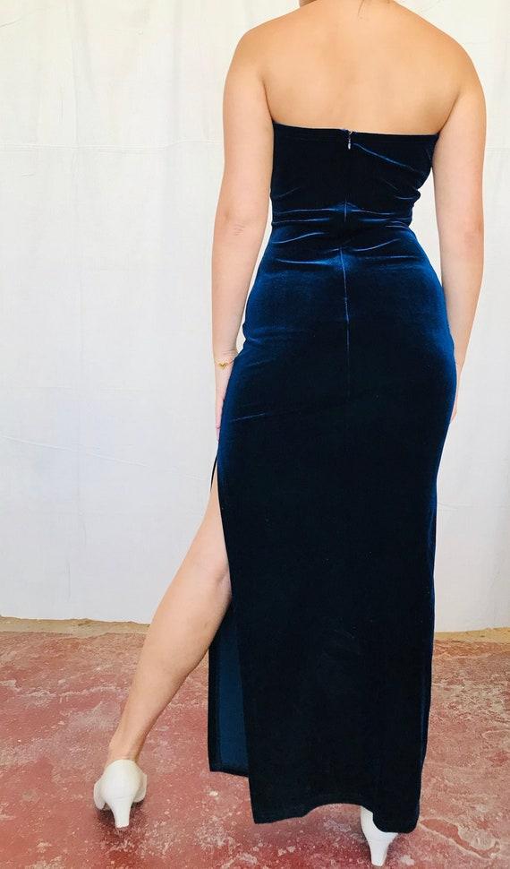 Royal Blue Velvet Vintage Gown