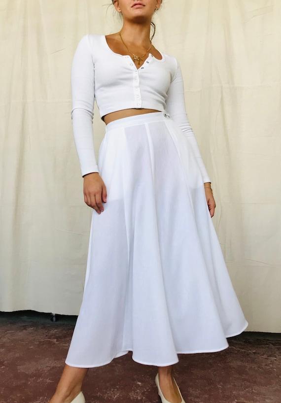 Vintage White Tulip Skirt