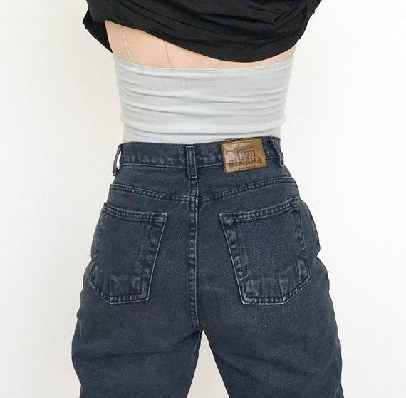 High Waist Navy Jeans