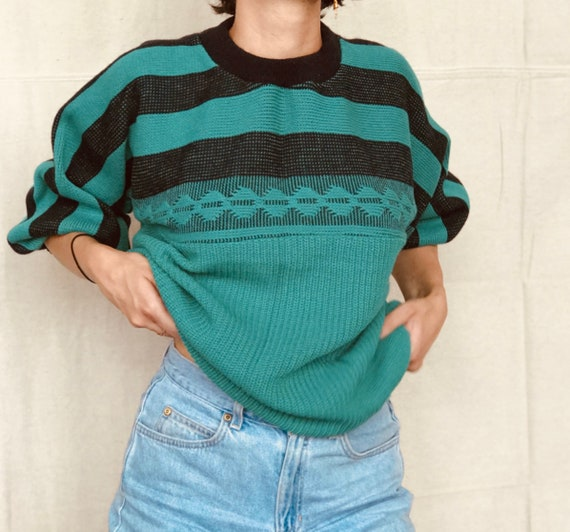 80's Patterned Oversized Sweater